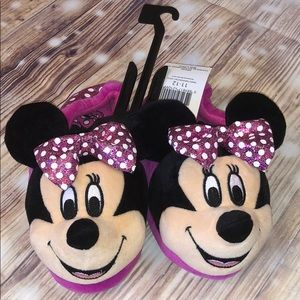💋5/25💋NWT Girls Pink Mini Mouse Slippers